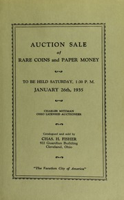 Auction sale of rare coins and paper money. [01/26/1935]