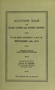 Auction sale of rare coins and paper money. [09/14/1935]