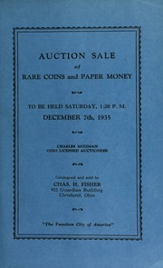Auction sale of rare coins and paper money. [12/07/1935]