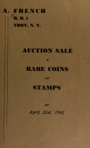Auction sale of rare coins and stamps. [04/21/1941]