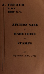 Auction sale of rare coins and stamps. [09/29/1941]