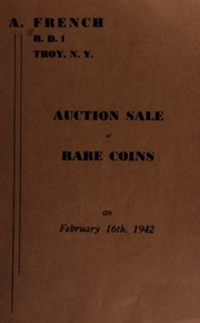 Auction sale of rare coins. [02/16/1942]