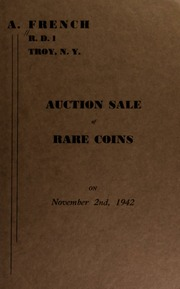 Auction sale of rare coins. [11/02/1942]