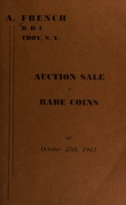 Auction sale of rare coins. [10/25/1943]