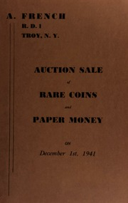 Auction sale of rare coins and paper money. [12/01/1941]