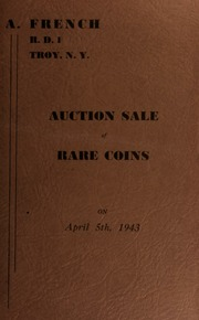 Auction sale of rare coins. [04/05/1943]