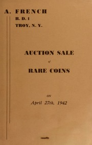 Auction sale of rare coins. [04/27/1942]