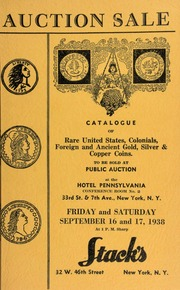 Auction sale of rare coins : embracing consignments from several prominent collectors ... [09/16-17/1938]