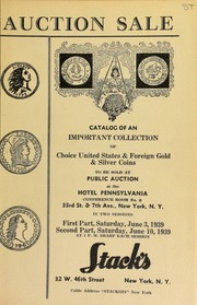 Auction sale of rare coins from an important collection in two sessions ... [06/03/1939], [06/10/1939] (pg. 105)