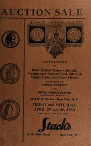 Auction sale of rare coins : embracing consignments from several prominent collectors ... [04/29/1938-04/30/1938]