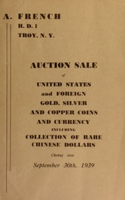 Auction sale of United States and foreign gold, silver and copper coins and currency ... [09/30/1939]