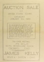 Auction sale of United States coins. [01/20/1940]