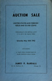 Auction sale : United states and foriegn gold and silver coins ... [05/16/1942]