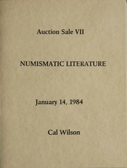 Auction Sale VII Numismatic Literature