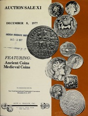 Auction sale XI, featuring: ancient coins, medieval coins. [12/08/1977]