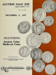 Auction sale XIII ... featuring: ancient coins, medieval coins. [12/08/1978]