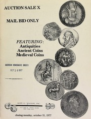 Auction sale X : mail bid only, featuring : antiquities, ancient coins, medieval coins. [10/31/1977]