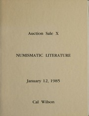 Auction Sale X Numismatic Literature