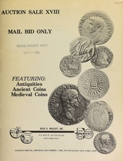 Auction sale XVIII : mail bid only, featuring : antiquities, ancient coins, medieval coins. [12/01/1980]