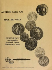Auction sale XXI : mail bid only : featuring antiquities, ancient coins, medieval coins. [05/24/1985]
