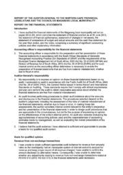 NC093 Magareng Audit report 2012-13