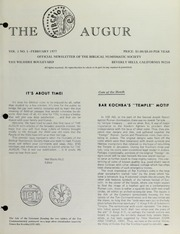 The Augur, Vol. 1, No. 1