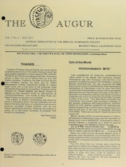 The Augur, Vol. 1, No. 4