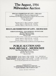 The August 1986 Milwaukee Auction