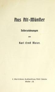 Aus Alt-Münster : Federzeichnungen