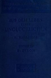 Aus dem Leben eines Unglücklichen, Erzählung aus dem Schwarzwalde;