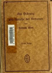 Vol 03: Aus Dichtung und Sprache der Romanen; Vorträge und Skizzen