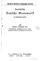 Ausführliche deutsche grammatik in gedrängter form