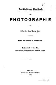 Ausführliches Handbuch der Photographie