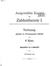 Ausgewählte Kapitel der Zahlentheorie
