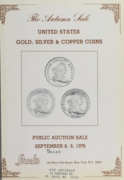 The Autmun Sale: United States Gold, Silver & Copper Coins