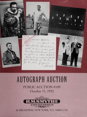 Autograph Auction: Public Auction #109