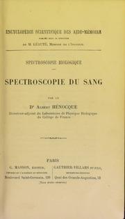 Spectroscopie biologique