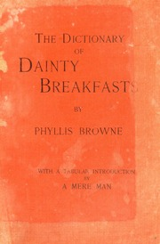 The dictionary of dainty breakfasts