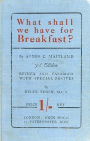 What shall we have for breakfast?, or, Everybody's breakfast book