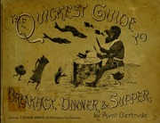 The quickest guide to breakfast, dinner and supper