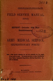 field service manual 1913 army medical service expeditionary rh archive org Army Training Manual Army Training Manual