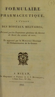 Formulaire pharmaceutique, à l-usage des hôpitaux militaires de la République Française