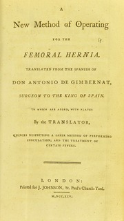 A new method of operating for the femoral hernia : Gimbernat