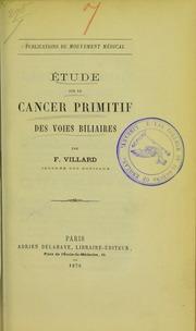 Étude sur le cancer primitif des voies biliaires