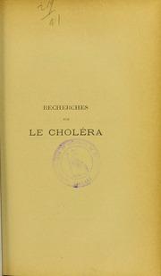 Recherches sur le choléra