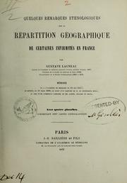 Quelques remarques ethnologiques sur la répartition géographique de certaines infirmités en France