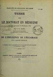 De l-influence de l-éclairage sur l-acuité visuelle : thèse pour le doctorat en médecine présentée et soutenue le 13 décembre 1872