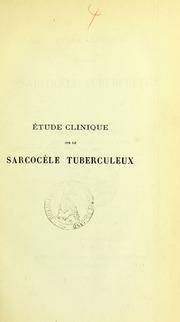 Étude clinique sur le sarcocèle tuberculeux