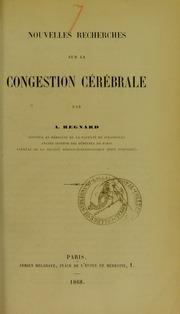 Nouvelles recherches sur la congestion cérébrale