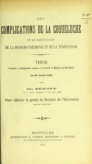 Des complications de la coqueluche : et en particulier de la broncho-pneumonie et de la tuberculose : thèse présentée et publiquement soutenue à la Faculté de médecine de Montpellier le 30 juillet 1903